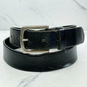 Gap Black Distressed Thick Genuine Leather Belt 34